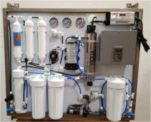 Wall mount reverse osmosis water system
